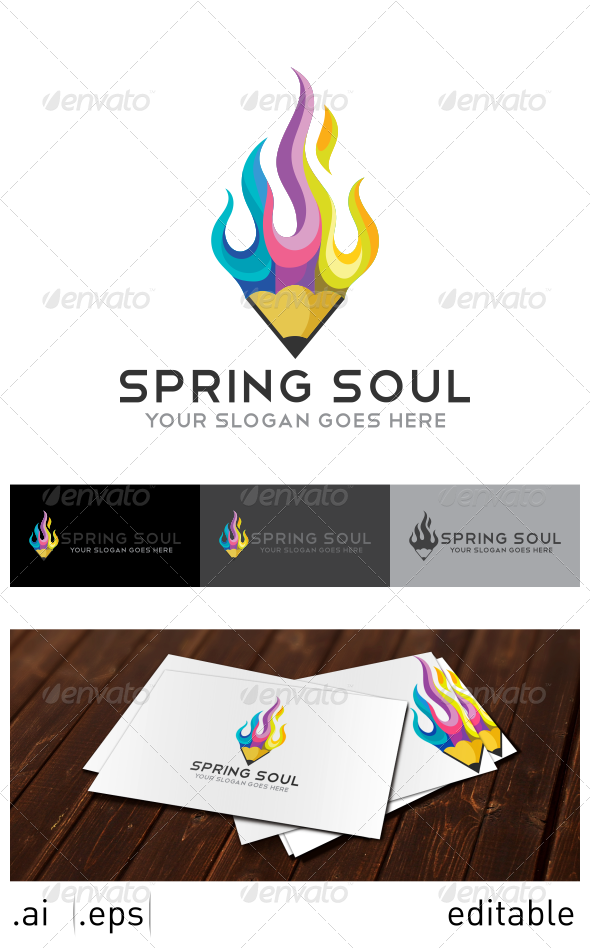 Spring Soul Logo Template - Objects Logo Templates
