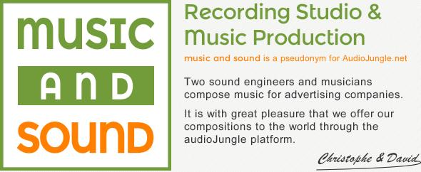 Musicandsound banner for audiojungle net