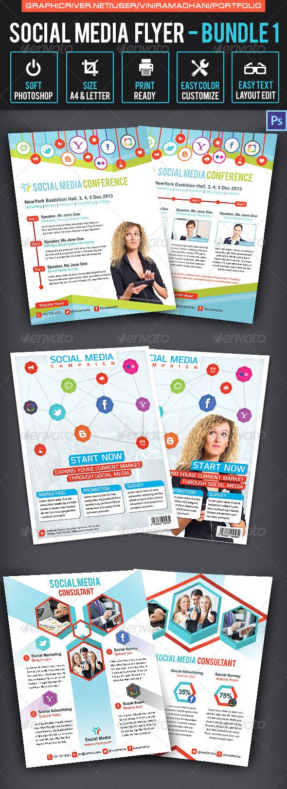Social Media Flyer Bundle 1 - Corporate Flyers