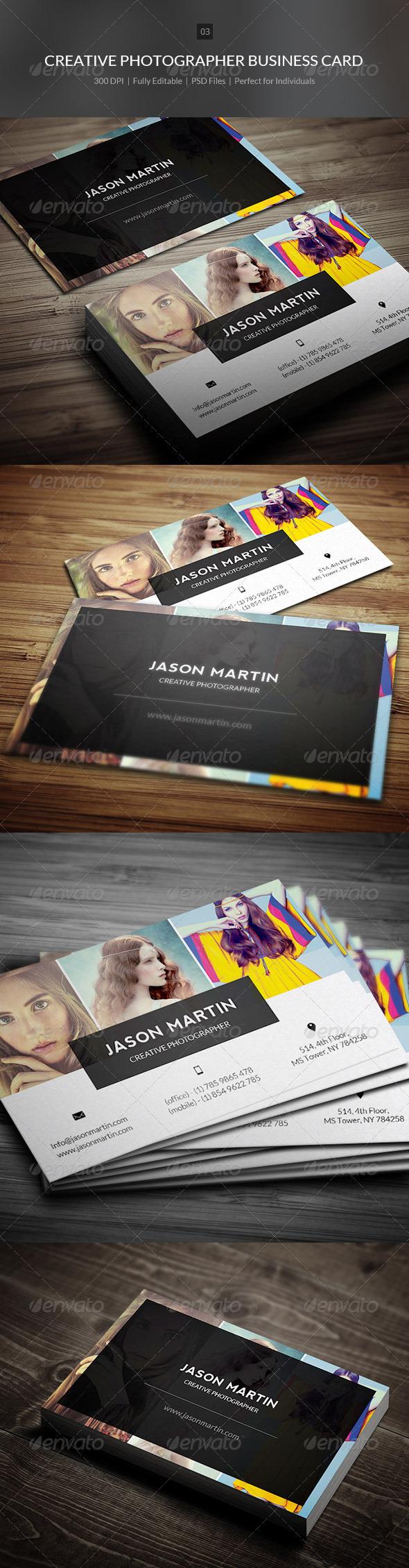 Creative Photographer Business Card - 03 - Creative Business Cards
