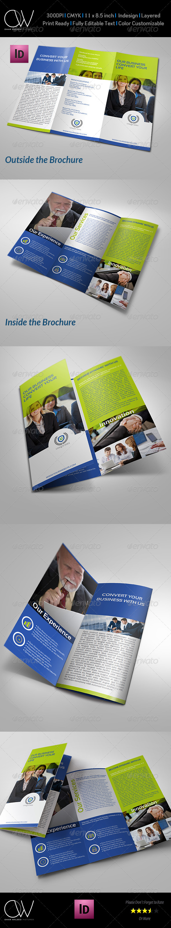 Corporate Business Tri-Fold Brochure Vol.5 - Corporate Brochures