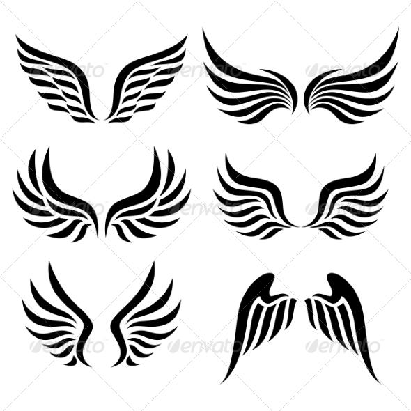 Wings Set - Decorative Symbols Decorative