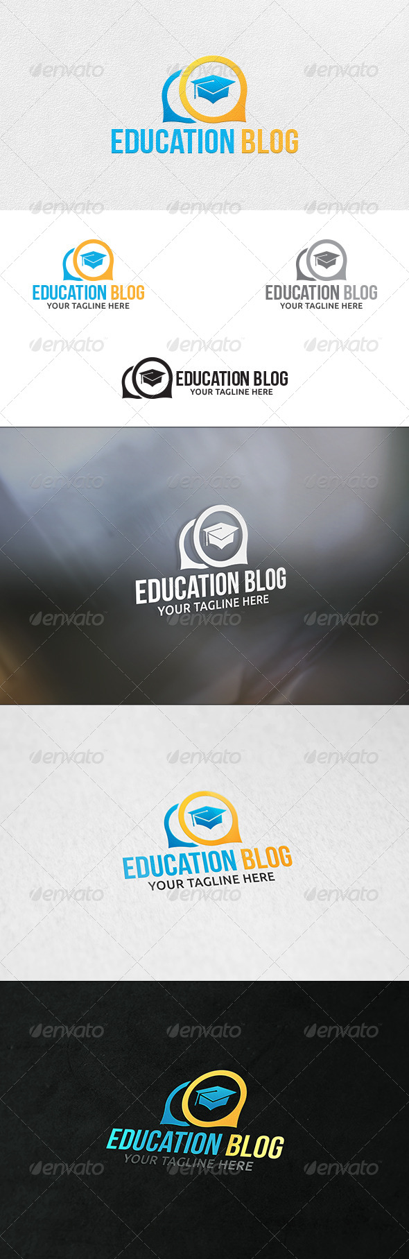 Education Blog - Logo Template - Symbols Logo Templates
