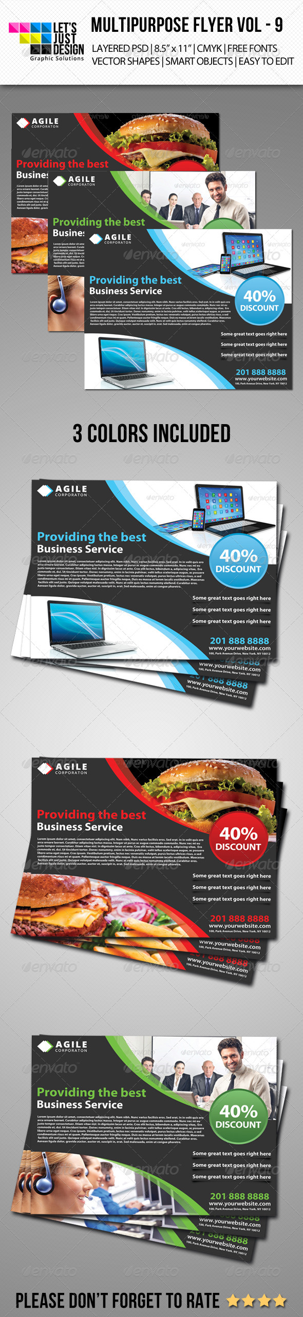Multipurpose Flyer Template Vol 9  - Corporate Flyers