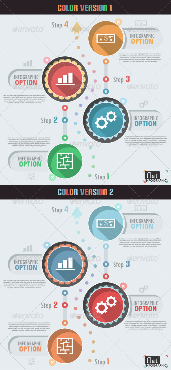 Flat Infographic Banner (Two Versions) - Infographics