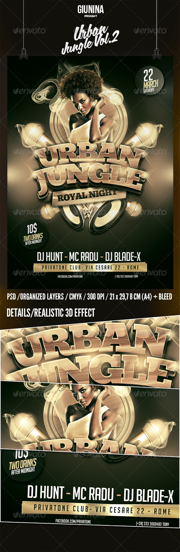 Urban Jungle Vol.2 Flyer/Poster - Events Flyers