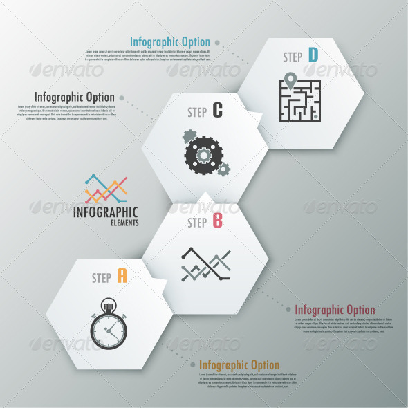 Modern Infographic Options Banner With Polygons - Infographics