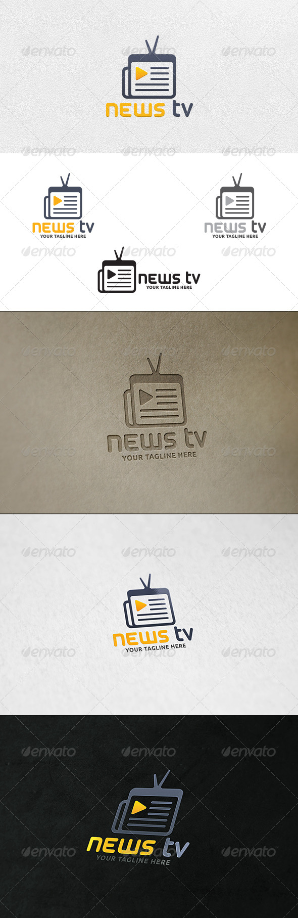 News TV - Logo Template - Objects Logo Templates
