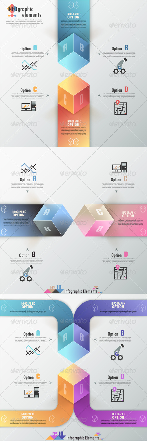 Modern Infographic Options Banner (Three Versions) - Infographics