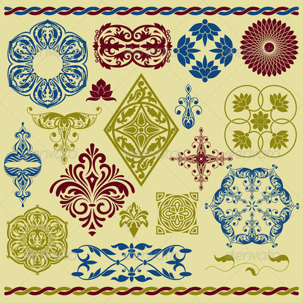 Floral Design Elements - Decorative Vectors