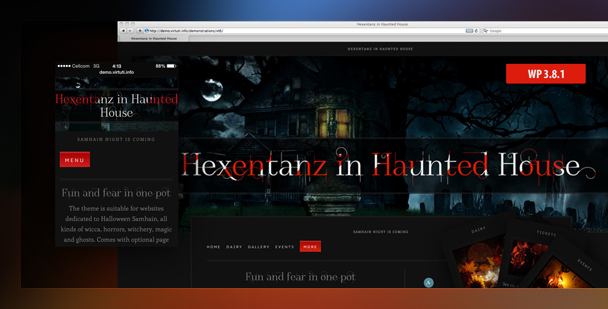Hexentanz Horror Halloween Events Spooky Wp Theme By