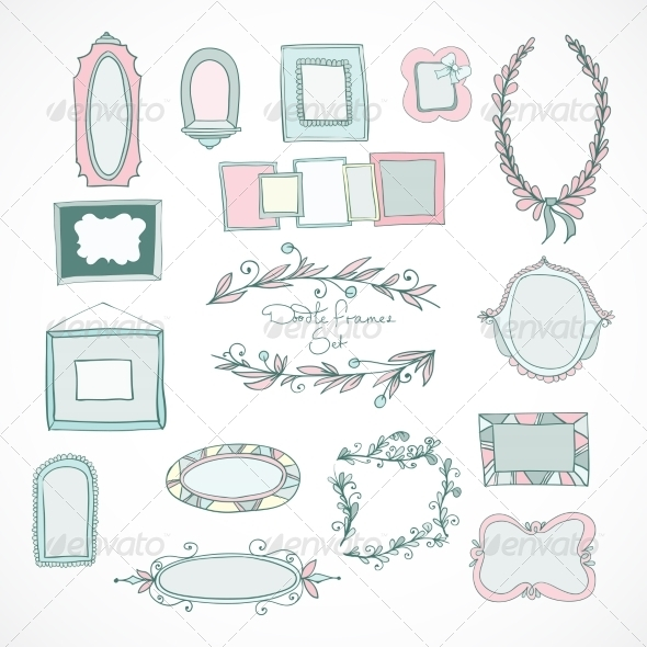 Collection of Doodle Frames for Wedding - Weddings Seasons/Holidays