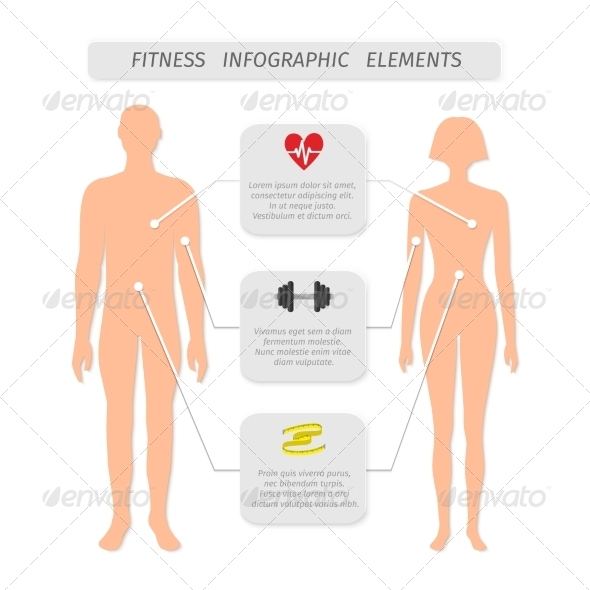 Infographic Elements for Fitness Sports - Sports/Activity Conceptual