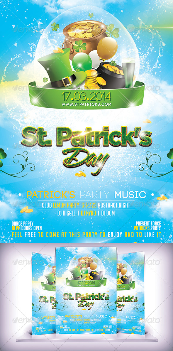 St. Patrick's Day Flyer - Events Flyers