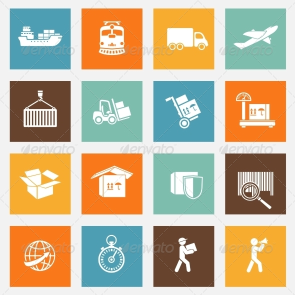Logistic Services Pictograms Collection - Web Technology