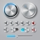Metal Interface Buttons Collection - GraphicRiver Item for Sale