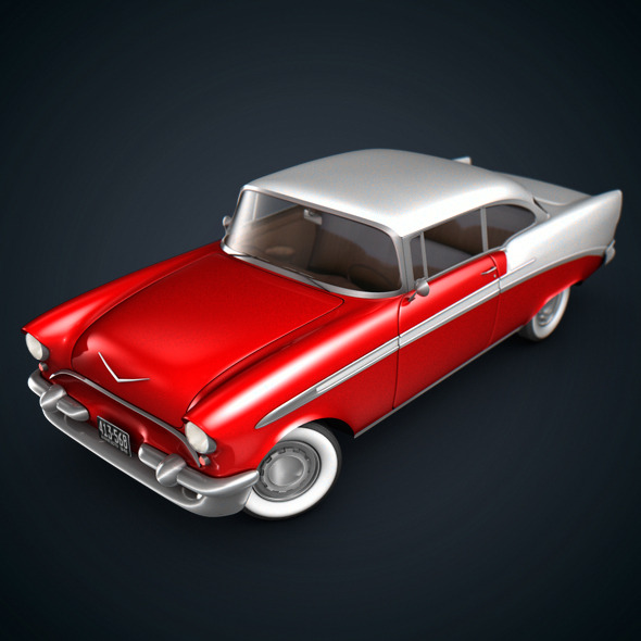 American Classic Car - 3DOcean Item for Sale