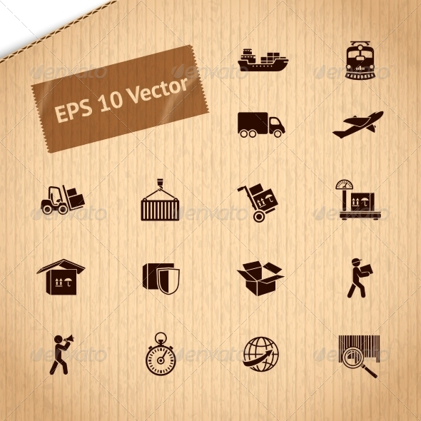 Logistic Transportation Service Icons Set - Web Technology