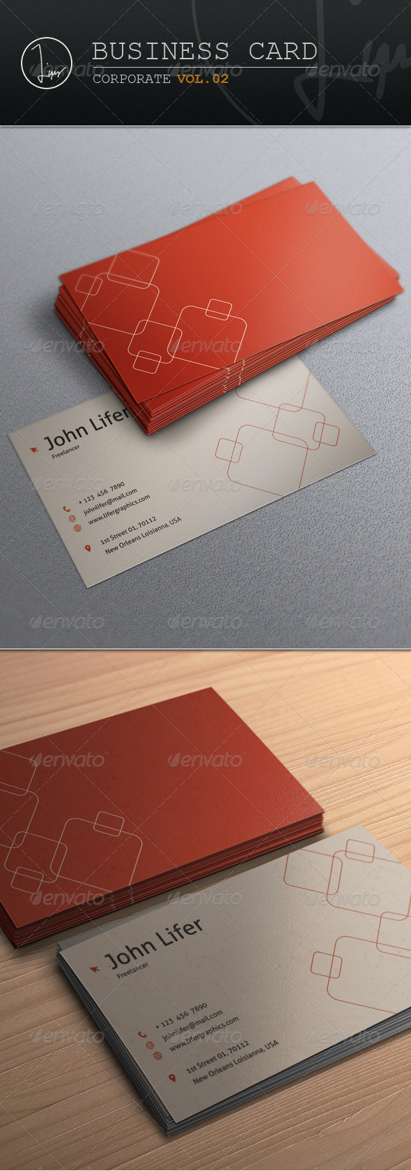 Business Card / Corporate Vol.02 - Business Cards Print Templates