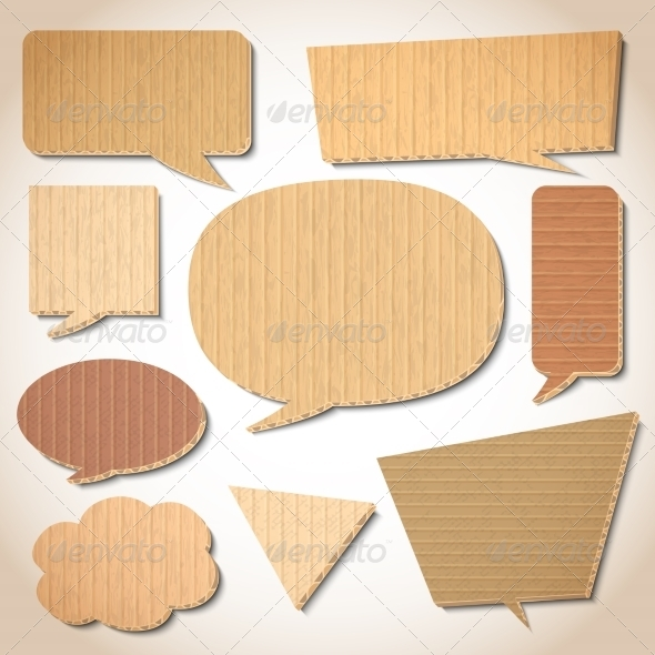 Cardboard Speech Bubbles Set - Borders Decorative