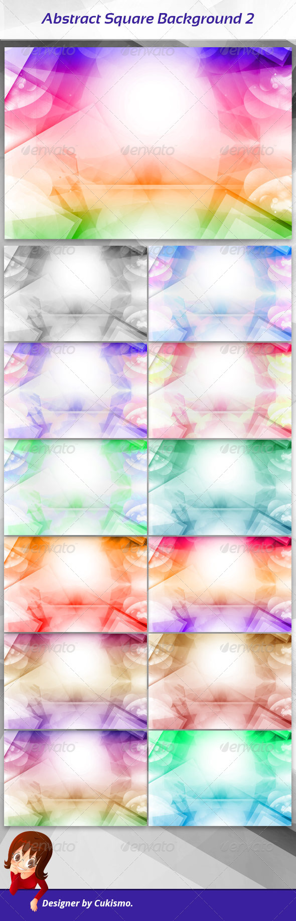 Abstract Square Background 2 - Abstract Backgrounds