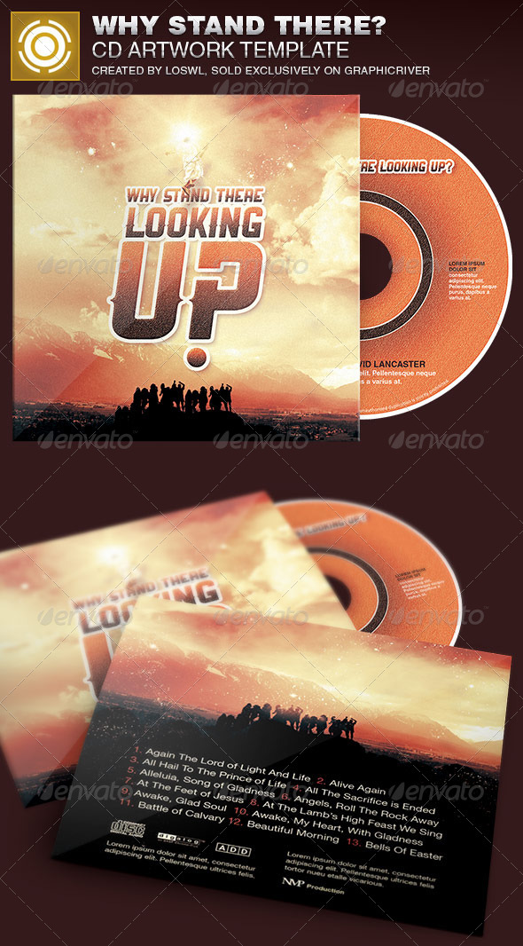 Why Stand There? CD Artwork Template - CD & DVD Artwork Print Templates