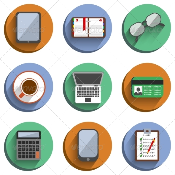 Business Set Workplace Icons - Business Icons
