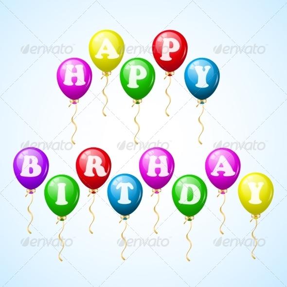 Happy Birthday Celebration Balloons - Birthdays Seasons/Holidays