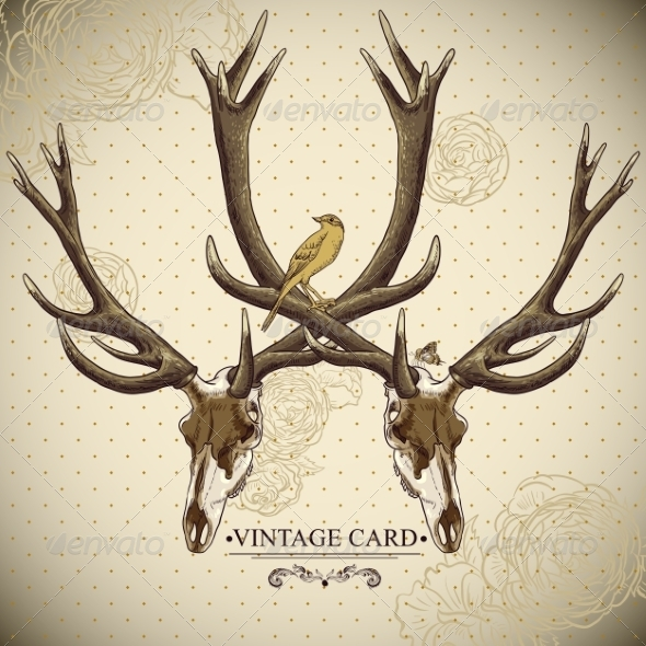 Deer Skull Background - Patterns Decorative