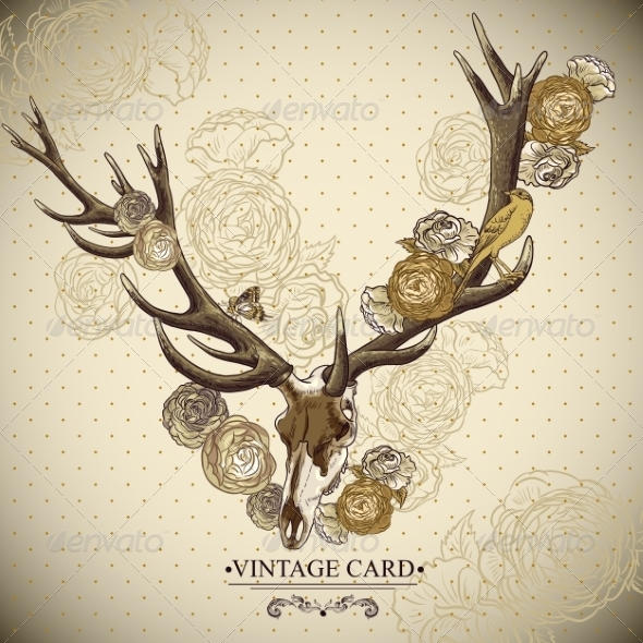 Deer Skull Background - Patterns Decorative