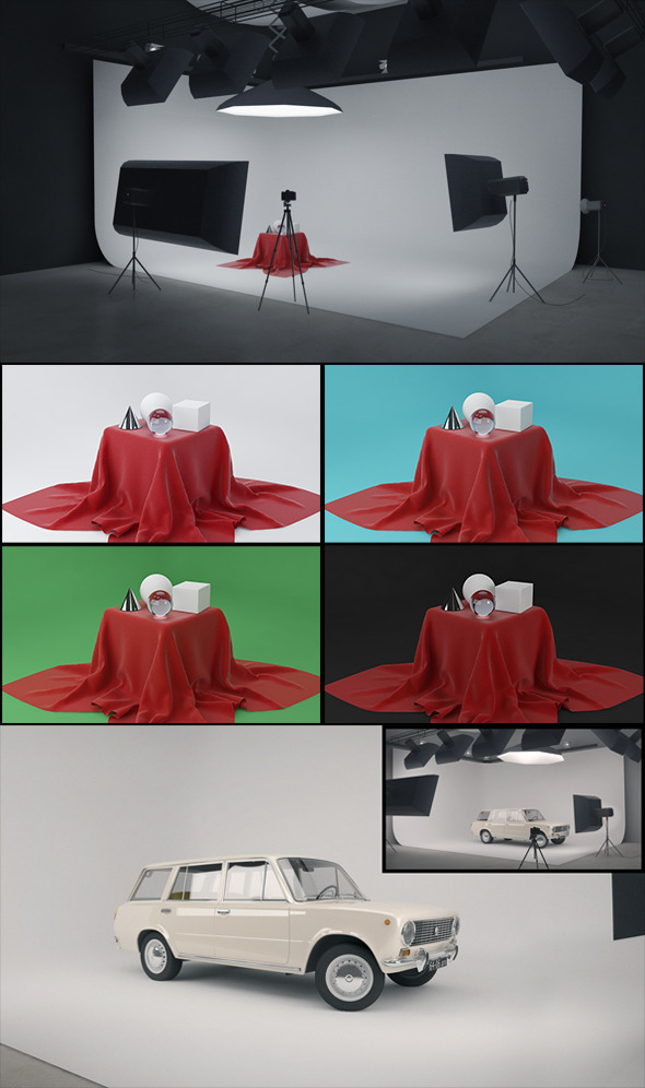 Real Studio Setup for V-ray - 3DOcean Item for Sale