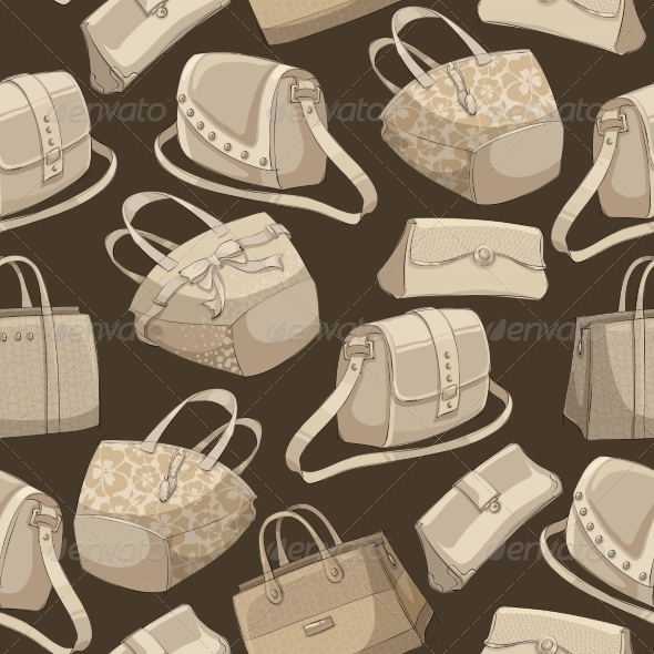 Seamless Bag Pattern - Backgrounds Decorative