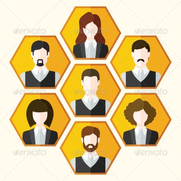 Avatar Icons - People Characters
