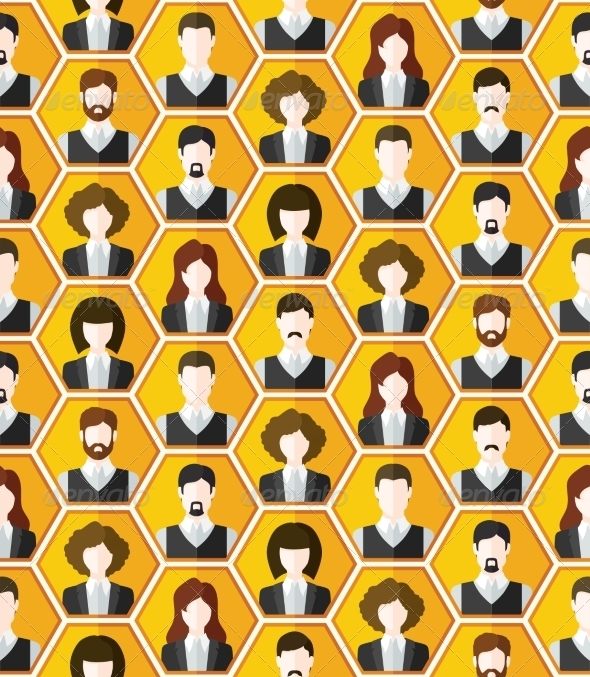 Seamless Avatar Pattern - Backgrounds Business