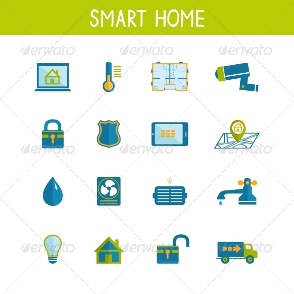 Smart Home Automation Technology Icons Set - Business Icons