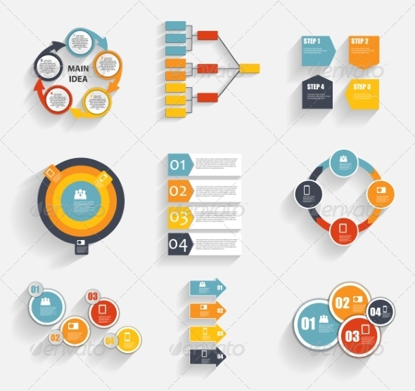 Collection of Infographic Templates for Business - Retail Commercial / Shopping