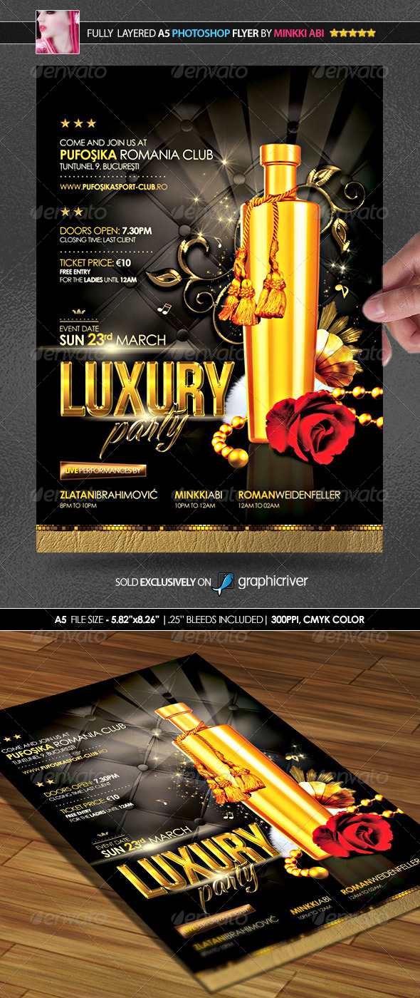 Luxury Party Poster/Flyer - Flyers Print Templates
