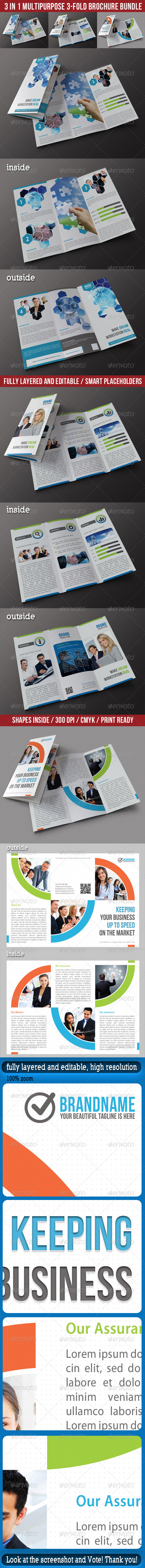 3 in 1 Corporate 3-Fold Brochure Bundle 01 - Corporate Brochures