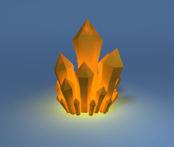 Low poly mineral crystal - 3DOcean Item for Sale