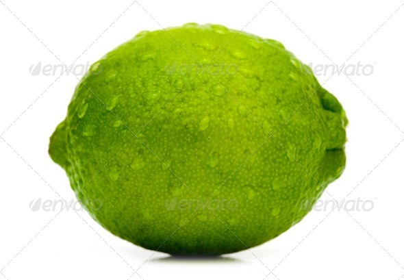 Lime with water drops - Stock Photo - Images