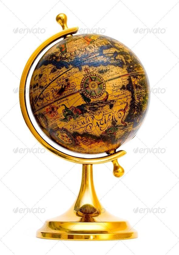 Old style globe - Stock Photo - Images