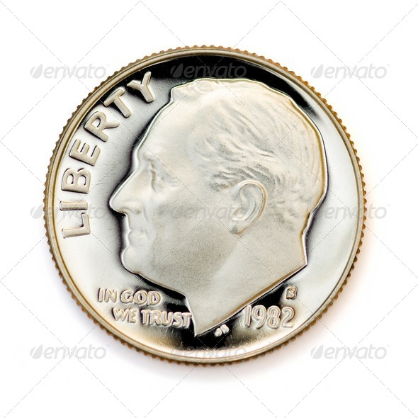 Perfect uncirculated coin - Stock Photo - Images