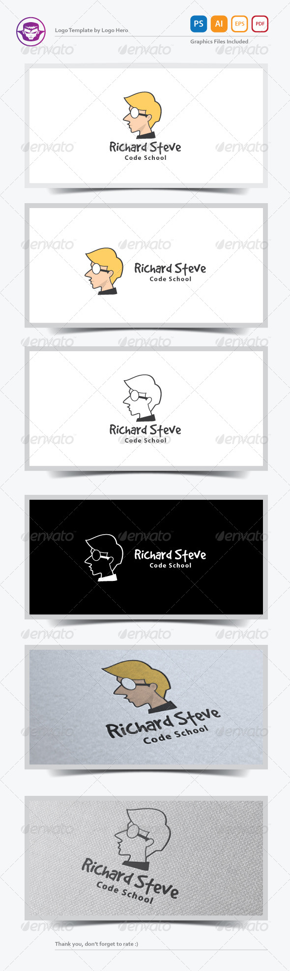 Personal Brand Logo Template - Humans Logo Templates