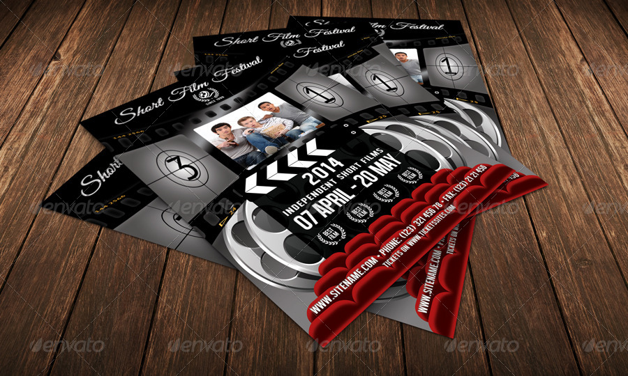 Film Festival Flyer Template 30 by 21min | GraphicRiver