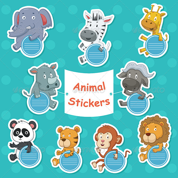 Animal Stickers - Animals Characters