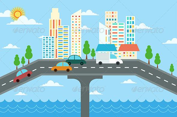City Landscape Design - Buildings Objects