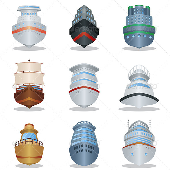 Ship Icons - Travel Conceptual
