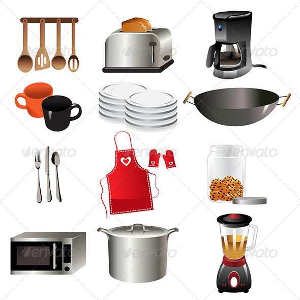 Kitchen Icons - Objects Vectors