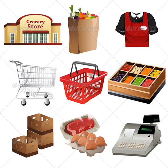Grocery Icons - Commercial / Shopping Conceptual