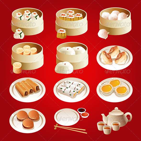 Dim Sum Icons - Food Objects